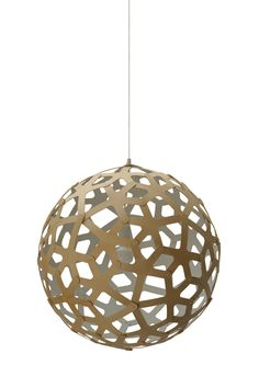 The Coral pendant lamp is a gorgeous modern pendant lamp based on the geometric polyhedral form. The intricate shape of this modern pendant lamp by is made from just one single component, repeated 60 Pendant Lamp, Pendant Lighting, White Pendant Light, I Love Lamp, Cool Lamps, David, Lamp Bases, Modern Lighting, Condo Design