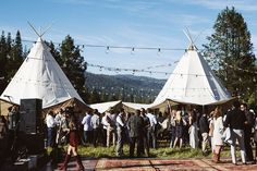 Festival Wedding. Tipi wedding