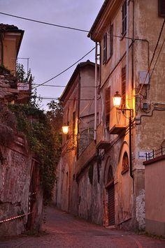 A street in Pinerolo, Piemonte, Italy by l.avondo
