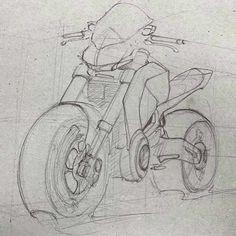 Motorcycle sketches by fahmi ahmad