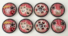 8 Home Movie Theatre Wooden Dresser Bedding Cordinate Drawer Knobs Pulls #whimzicality