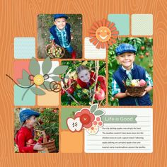 HM Gallery - Hello Fall, 12 x 12 Scrap pages by Roxanne Buchholz