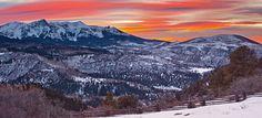 Ridgway, Colorado sunset