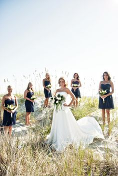 Just_a_Dream_Photography / Bridal party beach pose