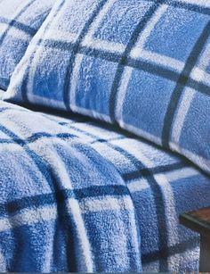 LUXURIOUS FLEECE SHEET SET FULL ANTI-PILL FINISH BLUE PLAID NORTHCREST $79.99 in Home & Garden, Bedding, Sheets & Pillowcases | eBay
