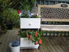 Great way to reuse that old broken file cabinet!