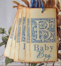 Tags Baby Shower Boy Gift Tags Favor Tags Wish Tree by bljgraves, $4.00