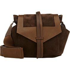 Isabel Marant Hanley Shoulder Bag (12 785 ZAR) ❤ liked on Polyvore featuring bags, handbags, shoulder bags, brown, 100 leather handbags, genuine leather handbags, leather shoulder bag, brown leather purse i real leather purses