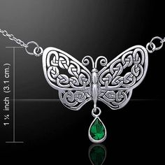 Celtic Knots BUTTERFLY Necklace .925 S SILVER Rebirth TRANSFORMATION in SPIRIT