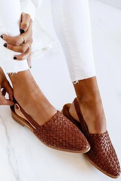 Closed Toe Sandals, Pointed Toe Flats, Closed Toe Summer Shoes, Cute Shoes, Me Too Shoes, Cute Flats, Heeled Boots, Shoe Boots, Heeled Loafers