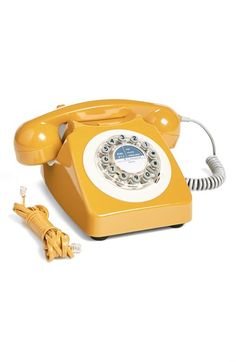 WILD AND WOLF '746' Phone at Nordstrom.com. Classic '60s design defines a kitschy-cool phone in color-pop yellow. I would love this in my office!!