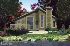 508-le-matiniere-plans-design-perspective Bungalow, Construction, Plan Design, Facade, Perspective, Shed, Outdoor Structures, Cabin, How To Plan