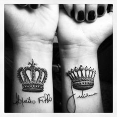 Diamonds, I have always wanted a crown tattoo!!