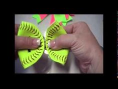 How to Make a Hair Bow out of a REAL softball! - YouTube