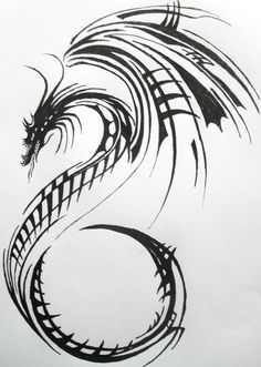 Dragon Tattoo Design by Lacrimosa-Jem