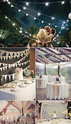 Decoraciones colgantes para bodas y fiestas Vintage Party, Vintage Diy, Diy Wedding, Wedding Day, Wedding Things, Wedding Stuff, Outdoor Parties, Partys, Party Shop