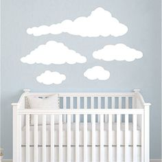 Cloud Wall Decals Baby Room Nursery Clouds Wall Vinyl Decal Stickers Playroom Kids Children Bedroom Murals Home Decor >>> Click on the image for additional details. (This is an affiliate link) #KidsFurnitureDcorStorage