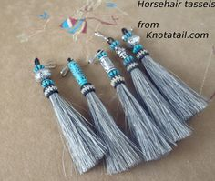 Elegant Beaded horse hair tassels very unique  by Knotatail