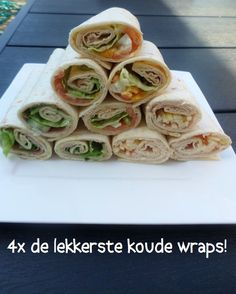 Lunch Snacks, Tea Snacks, Ham Wraps, Lunch Wraps, Prepped Lunches, High Tea, Finger Foods, Food Inspiration, Tapas