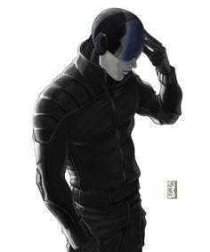 Cyberpunk, Future, Futuristic, Black Clothing, Futuristic Style, Cyberpunk Look, Helmet, Dominant Spirit Nero by *wyv1 on deviantART