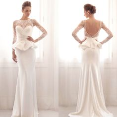 Gemy Maalouf Wedding Dresses 2014 Collection | Wish no peplum