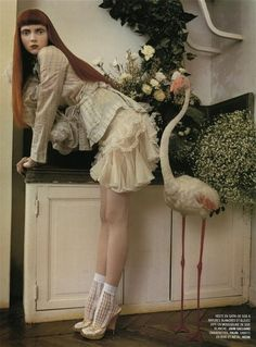 Picture of Lily Cole Tim Walker, Lily Cole, Trendy Fashion, High Fashion, Fashion Beauty, Editorial Photography, Fashion Photography, Inspiring Photography, Clarks