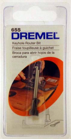 """3/8"""" TIP GENUINE DREMEL BRAND KEYHOLE ROUTER BIT WITH 1/8"""" SHANK : ( Pack of 1 Pc )"""