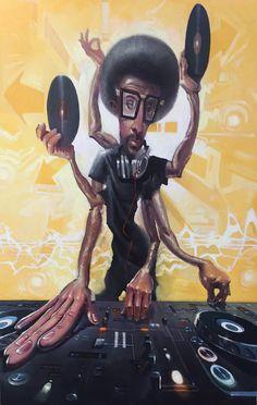 """""""DJ2"""" by Justin Bua"""