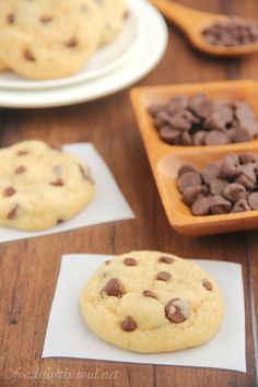Chocolate Chip Cookies - soft and chewy and low in fat.