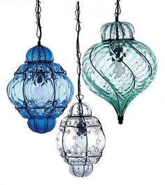 Collection of Murano Caged lanterns Deck Lighting, Cool Lighting, Pendant Lighting, Chandelier Lamp, Chandeliers, Venetian Glass, Hand Blown Glass, Glass Ornaments, Fairy Lights