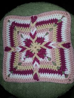 Ravelry: Project Gallery for Granny Square 54 pattern by Rose Marie Brooks Crochet Afghans, Crochet Squares, Crochet Blankets, Crochet Granny, Crochet Motif, Crochet Patterns, Afghan Patterns, Square Patterns, Stitch Patterns