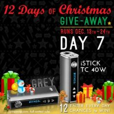 Enter to win a Grey iStick TC40W!