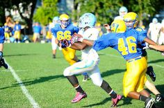 Rasheed Woods runs inside and outside. Click http://capegazette.villagesoup.com/p/cape-jv-football-wins-at-caesar-rodney-30-12/1063768 to read football article: Cape JV football wins at Caesar Rodney 30-12 by Dave Frederick
