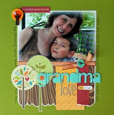 Very nice-- using only 1 pic, sanded, large green outside border with scraps. Plus, note the journaling scribbled on sides Paper Bag Scrapbook, Kids Scrapbook, Scrapbook Page Layouts, Scrapbooking Ideas, Scrapbooking Digital, Baby Girl Scrapbook, Bridal Shower Scrapbook, Birthday Scrapbook, Recipe Scrapbook