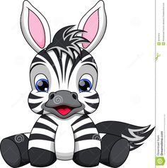 Baby Zebra Cartoon Stock Photo - Image: 36187810