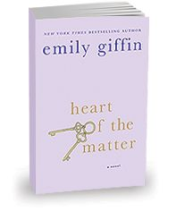Heart of the Matter by Emily Griffin.  This book was a roller coaster of emotions for me.  So worth it in the end though.