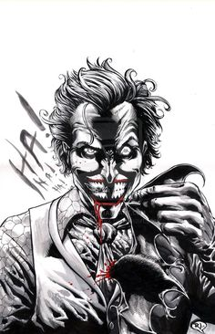 Joker... The only one is creepy and lovable at the same time.. Right now it's just creepy