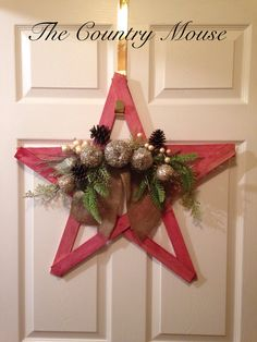 Christmas rustic star Christmas Wreaths, Crafting, Rustic, Star, Country, Holiday Decor, Home Decor, Christmas Garlands, Homemade Home Decor