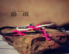 unisex breast cancer awareness bracelet