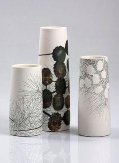 (Australia) Ceramic vase, 2008 by Tania Rollond ). Ceramic Decor, Ceramic Clay, Ceramic Vase, Pottery Vase, Ceramic Pottery, Thrown Pottery, Slab Pottery, Cerámica Ideas, Keramik Design