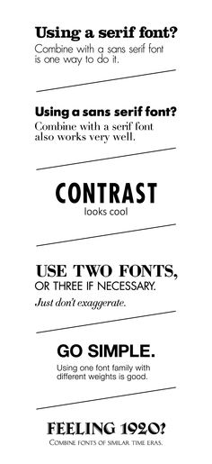 Simple rules for combining fonts, PART 1