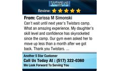 Can't wait until next year's Twistars camp. What an amazing experience. My daughter's...