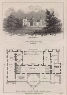 Corsham House, Wiltshire. Ground Plan - Smith