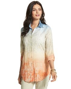 Chico's Ombre Tiles Sheri Shirt #chicos