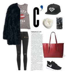 """""""Street Style"""" by hielevencom ❤ liked on Polyvore featuring Billabong, Paige Denim, MANGO, NIKE and Casetify"""