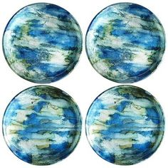 Blue & Green Foil Coasters