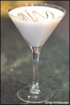 Polar Bear Martini: 1.5 oz. vanilla vodka; .5 oz. Frangelico; .5 oz. white chocolate liqueur<3