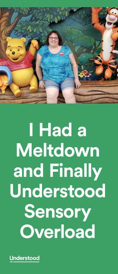 """Let me tell you, understanding what can cause a meltdown is not the same thing as knowing what it feels like to have one."""