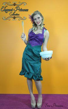 Sea Princess Apron for women and kids! Now on kickstarter... http://www.kickstarter.com/projects/227442996/elegant-princess-aprons