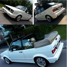 vw golf Would consider the white if I brought one! Golf 1 Cabriolet, Vw Golf Cabrio, Vw Mk1, Volkswagen Golf, Convertible, Most Popular Cars, Golf Tips For Beginners, Fit Car, Karting